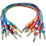 "SASPC1.5n - 10 Pack 18"" TRS 1/4"" Patch Cables"