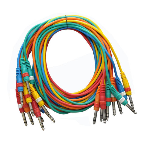 "SASPC5n - 10 Pack 5' TRS 1/4"" Patch Cables"