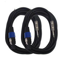 "SASPT14-15 - Pair of Speakon to 1/4"" Speaker Cables 15'"