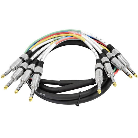"SASRT-4x10 - 4 Channel 1/4"" TRS Snake Cable - 10 Feet"