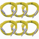 SASTSX-6 - 6 Pack of Yellow 6 Foot TS Patch Cables