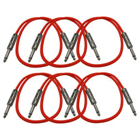 SASTSX-2 - 6 Pack of Red 2 Foot TS Patch Cable
