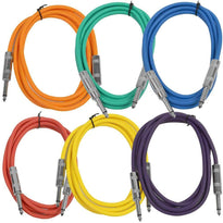 SASTSX-6 - 6 Pack of Multiple Colors 6 Foot TS Patch Cables