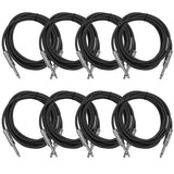 SASTSX-10 - 8 Pack of Black 10 Foot TS Patch Cables