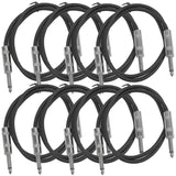 SASTSX-2 - 8 Pack of Black 2 Foot TS Patch Cable
