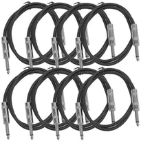 SASTSX-3 - 8 Pack of Black 3 Foot TS Patch Cable