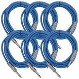 SASTSX-10 - 6 Pack of Blue 10 Foot TS Patch Cables