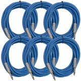 SASTSX-25 - 6 Pack of Blue 25 Foot TS Patch Cables