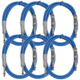 SASTSX-3 - 6 Pack of Blue 3 Foot TS Patch Cable