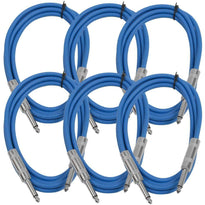 SASTSX-6 - 6 Pack of Blue 6 Foot TS Patch Cables