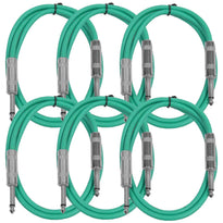 SASTSX-3 - 6 Pack of Green 3 Foot TS Patch Cable