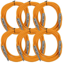 SASTSX-10 - 6 Pack of Orange 10 Foot TS Patch Cables