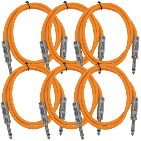 SASTSX-3 - 6 Pack of Orange 3 Foot TS Patch Cable