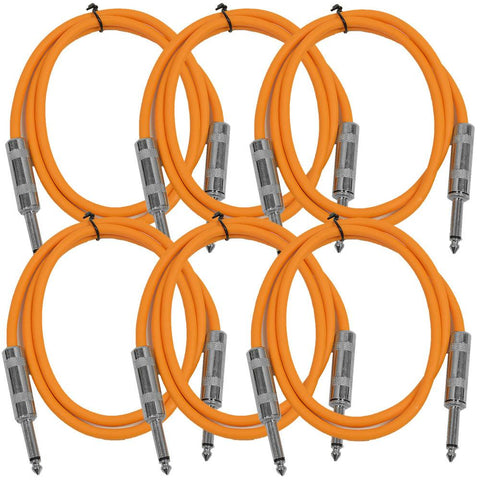 SASTSX-2 - 6 Pack of Orange 2 Foot TS Patch Cable