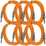 SASTSX-6 - 6 Pack of Orange 6 Foot TS Patch Cables