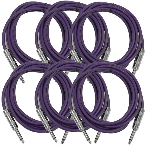 SASTSX-10 - 6 Pack of Purple 10 Foot TS Patch Cables