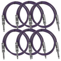 SASTSX-2 - 6 Pack of Purple 2 Foot TS Patch Cable