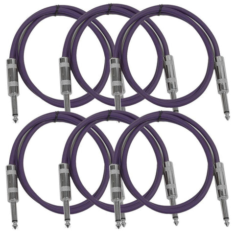 SASTSX-3 - 6 Pack of Purple 3 Foot TS Patch Cable
