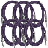 SASTSX-6 - 6 Pack of Purple 6 Foot TS Patch Cables