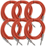 SASTSX-10 - 6 Pack of Red 10 Foot TS Patch Cables