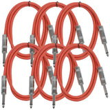 SASTSX-3 - 6 Pack of Red 3 Foot TS Patch Cable