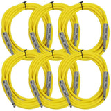 SASTSX-10 - 6 Pack of Yellow 10 Foot TS Patch Cables