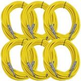 SASTSX-25 - 6 Pack of Yellow 25 Foot TS Patch Cables