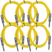 SASTSX-3 - 6 Pack of Yellow 3 Foot TS Patch Cable