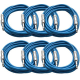 SATRX-10 - 6 Pack of Blue 10 Foot TRS Patch Cables