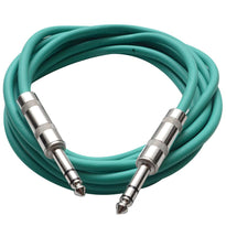 SATRX-10 - Green 10 Foot TRS Patch Cable
