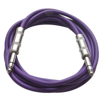 SATRX-10 - Purple 10 Foot TRS Patch Cable