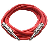 SATRX-10 - Red 10 Foot TRS Patch Cable