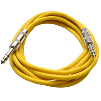 SATRX-10 - Yellow 10 Foot TRS Patch Cable
