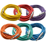 SATRX-25 - 6 Pack of Multiple Colors 25 Foot TRS Patch Cables
