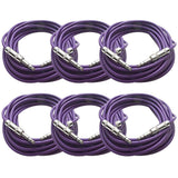 SATRX-25 - 6 Pack of Purple 25 Foot TRS Patch Cables