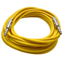 SATRX-25 - Yellow 25 Foot TRS Patch Cable