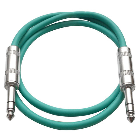 SATRX-2 - Green 2 Foot TRS Patch Cable