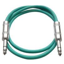 SATRX-3 - Green 3 Foot TRS Patch Cable