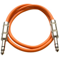 SATRX-2 - Orange 2 Foot TRS Patch Cable