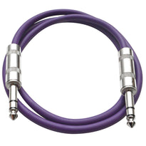SATRX-3 - Purple 3 Foot TRS Patch Cable