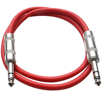 SATRX-3 - Red 3 Foot TRS Patch Cable
