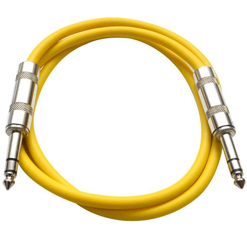 SATRX-3 - Yellow 3 Foot TRS Patch Cable