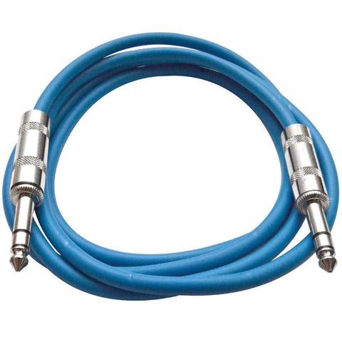 SATRX-6 - Blue 6 Foot TRS Patch Cable