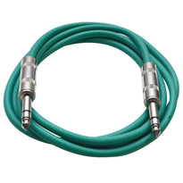 SATRX-6 - Green 6 Foot TRS Patch Cable