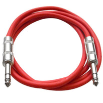 SATRX-6 - Red 6 Foot TRS Patch Cable