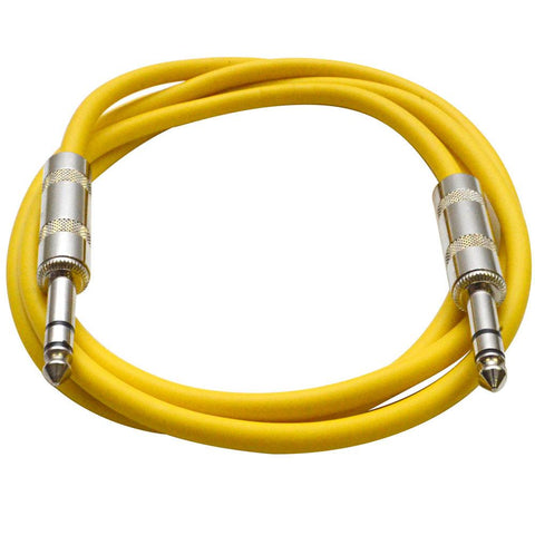 SATRX-6 - Yellow 6 Foot TRS Patch Cable
