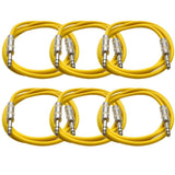 SATRX-6 - 6 Pack of Yellow 6 Foot TRS Patch Cables