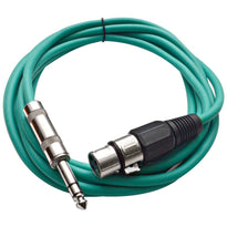 SATRXL-F10 - Green 10' XLR Female to TRS Patch Cable