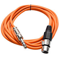 SATRXL-F10 - Orange 10' XLR Female to TRS Patch Cable