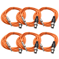 SATRXL-F10 - 6 Pack of Orange 10' XLR Female to TRS Patch Cables